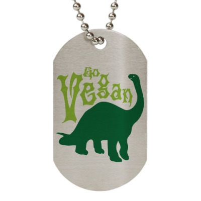 Жетон dog-tag Go Vegan