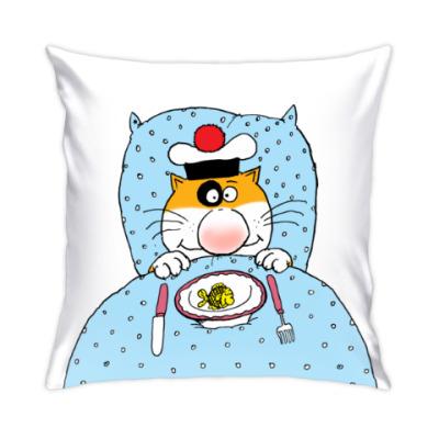 Подушка Завтрак кота Помпона