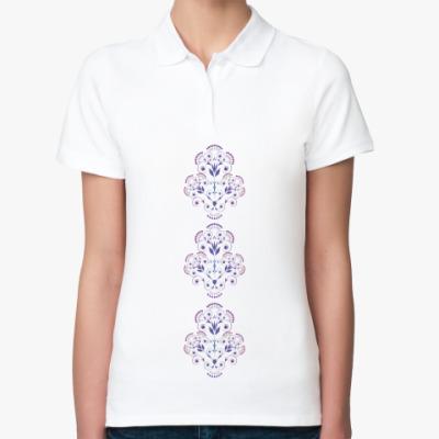 Женская рубашка поло орнамент