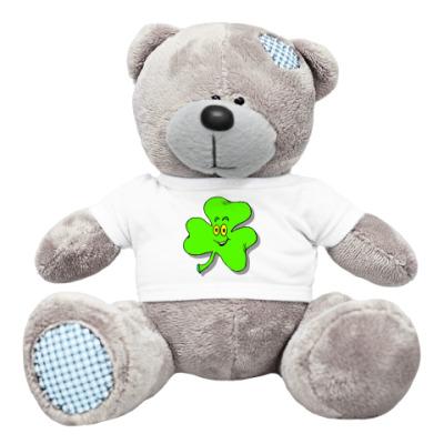 Плюшевый мишка Тедди happy shamrock