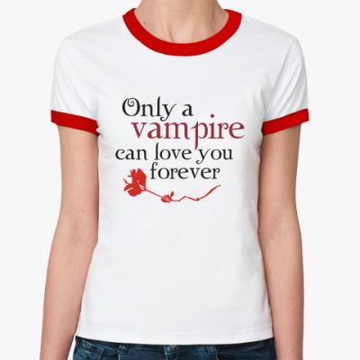 Женская футболка Ringer-T Vampire love