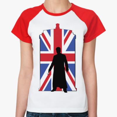 Женская футболка реглан Union Jack Doctor