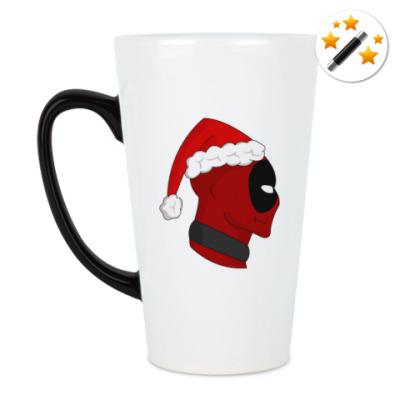Кружка-хамелеон Christmas with Deadpool