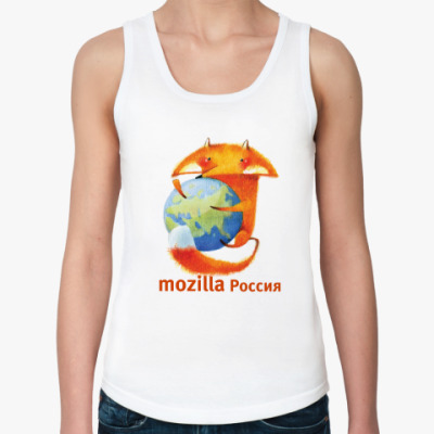 Женская майка  жен Mozilla