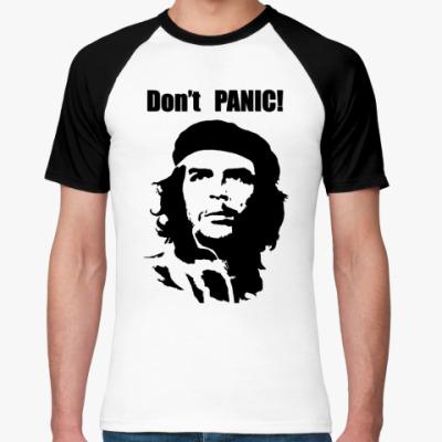 Футболка реглан Don't panic!
