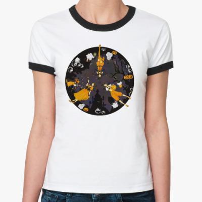 Женская футболка Ringer-T Halloween Time