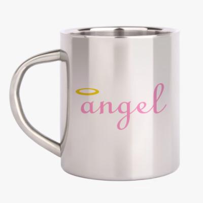 Кружка металлическая Ангел