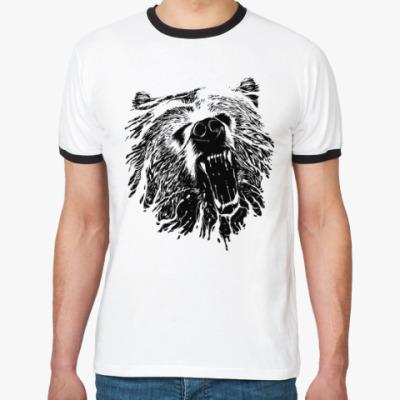 Футболка Ringer-T Медвежий оскал
