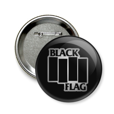 Значок 58мм Black Flag