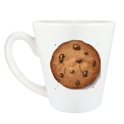 Чашка Латте Кружка  (360мл) печенька