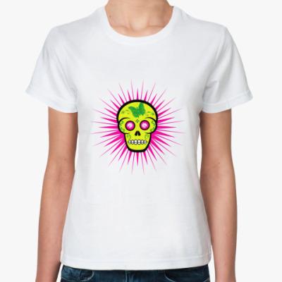Классическая футболка Green Skull