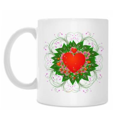 Кружка Heart Flower