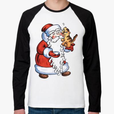 Футболка реглан с длинным рукавом Дед Мороз