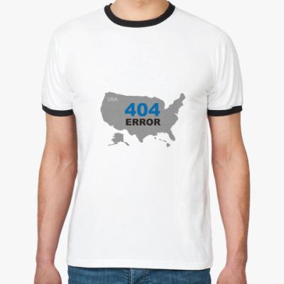 Футболка Ringer-T  Error 404