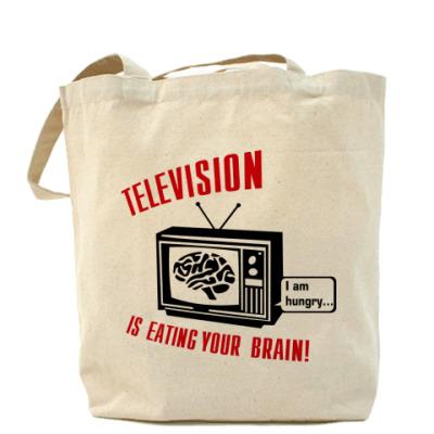 Сумка Телевидение ест мозг