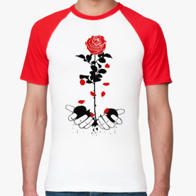 Футболка реглан heart rose
