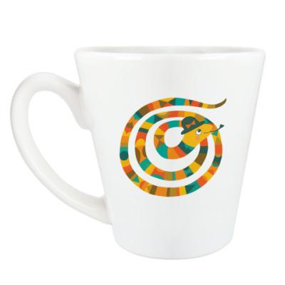 Чашка Латте Змейка