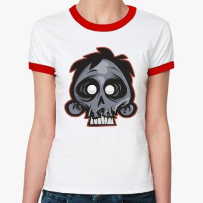 Женская футболка Ringer-T Crazy Monkey
