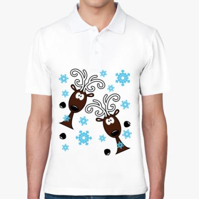 Рубашка поло Удивлённые олени