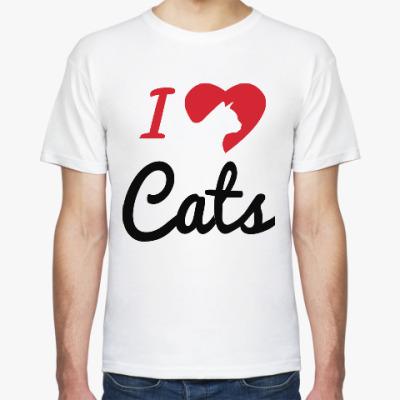 Футболка Я люблю кошек (котов)