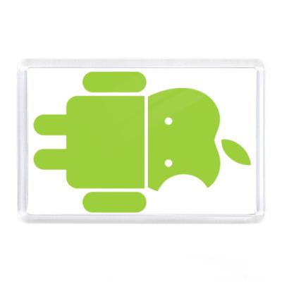 Магнит Андроид голова-яблоко