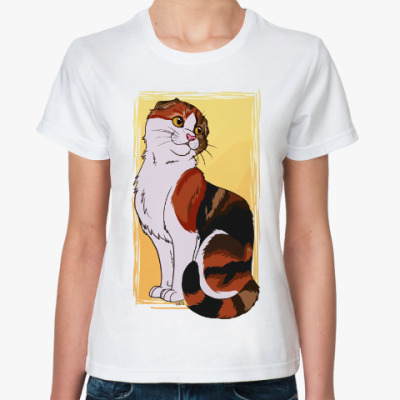 Классическая футболка Котик