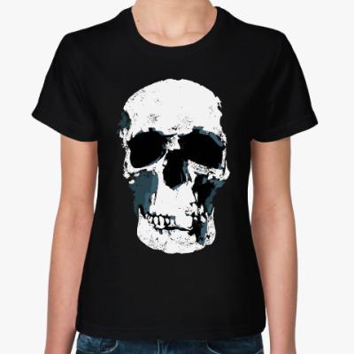Женская футболка Череп с Бейкер-стрит 221B