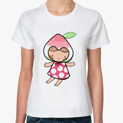 Классическая футболка  Персик