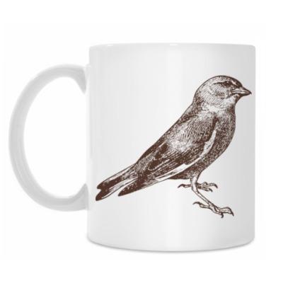 Кружка Vintage Bird Птица Винтаж
