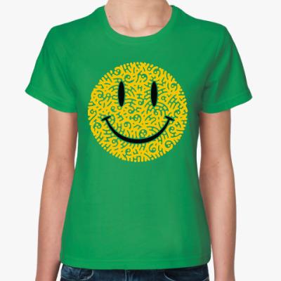 Женская футболка Смайлик