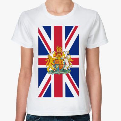 Классическая футболка Флаг и герб Великобритании