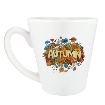Чашка Латте 'Я люблю Осень'