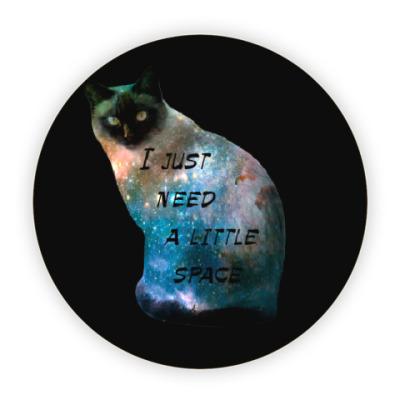 Костер (подставка под кружку) Котик космический