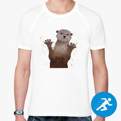 Спортивная футболка Выдра и брызги