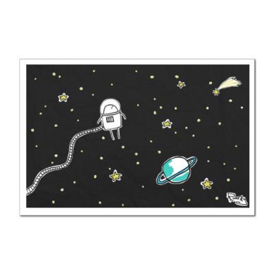 Наклейка (стикер) Космонавт Эм-Ти