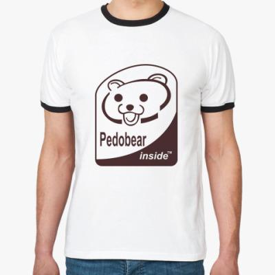 Футболка Ringer-T  Pedobear inside