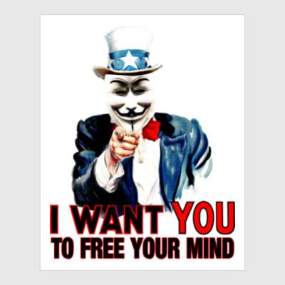 Постер Anonymous Uncle Sam