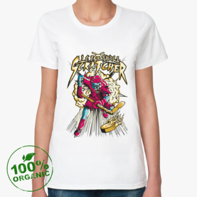 Женская футболка из органик-хлопка Хоккеист