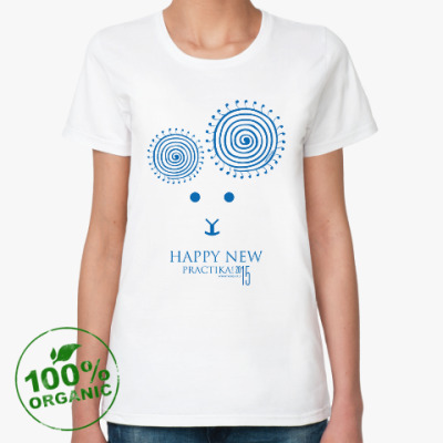 Женская футболка из органик-хлопка HappyNew Practika 2015