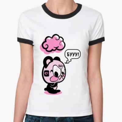 Женская футболка Ringer-T БУУУ