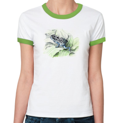 Женская футболка Ringer-T  царевна лягушка