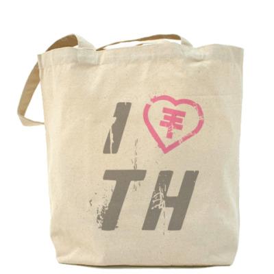 Сумка I Love TH Холщовая сумка