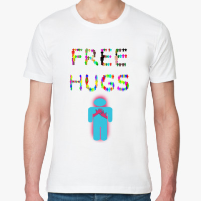 Футболка из органик-хлопка Тема с Free Hugs (Обними меня)