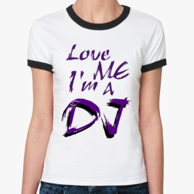 Женская футболка Ringer-T 'DJ'