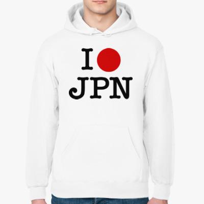 Толстовка худи I love Japan