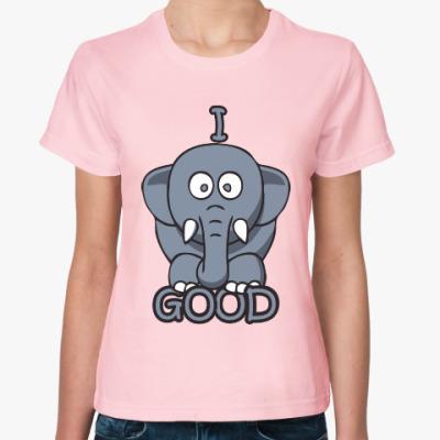 Женская футболка Я хороший
