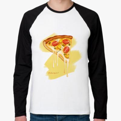 Футболка реглан с длинным рукавом 'Pizza'