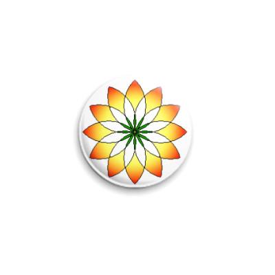 Значок 25мм цветок