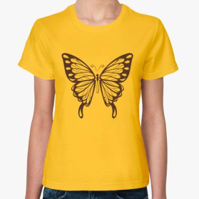 Женская футболка Бабочка Butterfly