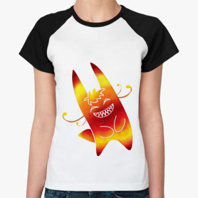 Женская футболка реглан Солнечный зайчик